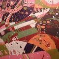 サクラサク 145×155cm 綿布 日本新工芸展・読売新聞大阪本社賞