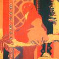 トリのメキシコ人 -第4幕- 185×94cm 綿布/西宮市展・西宮市議会議長賞