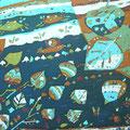 海の中へ 36.4×51.5cm 綿布 三人展