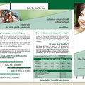 Konzeption | Gestaltung Flyer Zahnzusatzversicherung