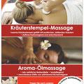 Gestaltung Plakat für Wellnessanwendungen