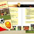 Gestaltung Fußball-Sponsoring-Broschüre, 8 Seiten