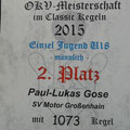 Urkunde OKV Paul-Lukas Gose