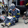 Janko Marquardt bei den Rennvorbereitungen