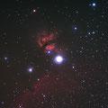Nebulosa Cabeza del Caballo y La Flama Takahashi FS 102 NS F/8 @ F/6,02 Canon EOS 300D  700seg. ISO400
