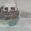 Lampedusa X, 80x100, Gouache 2014