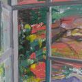 Fenster 3, 100x80cm, Acryl/Leinwand, 2017