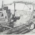 Lampedusa II, 30x42, Zeichnung Graphit 2013