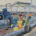 Lampedusa III, 80x100, Gouache 2013