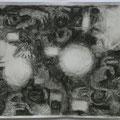 Blitzlichter bei Nacht III, 42x30, Zeichnung Graphit
