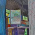 Fenster 7, 120x100cm, Gouache/Leinwand, 2017