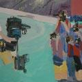 Jagd auf Miriam Jones, 80x100, Gouache