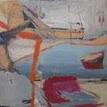 Am See, 45x42, Collage/Gouache/Zeichnung auf Karton