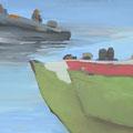 Lampedusa VIII, 80x100, Gouache 2014