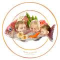 コトワザ4 【Big fish eat little fish.】大きな魚が小さな魚を食べる(大きな者や強い者が小さな者、弱い者を犠牲にすることのたとえ。)