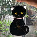 猫好きな生徒さんがご飼っている猫さんをモデルに制作しました。目が可愛いです。