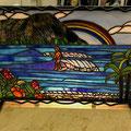 Hawaiiな海でサーフィン! 小さいながら細部にこだわりを感じる作品です。