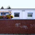 """""""hinter der mauer"""" • 2001 • 70x373cm (39x190cm) / 28x147"""" (14x75"""")"""