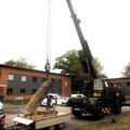 Die Bundeswehr half uns mit ihrem Kran