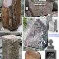Grabstein für die Großeltern und den Enkel