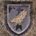 Ein Riss lief direkt durch das Wappen