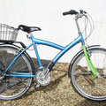 Blue bicycle standard frame