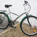 Grey bicycle standard frame