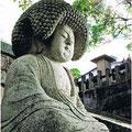 阿弥陀石仏〔金戒光明寺〕‥「アフロの仏さん」として評判になっているそうです。