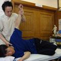 肩関節への施術
