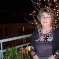 Margrid auf der Terrasse