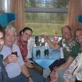 Unterwegs haben wir viele Freunde kennengelernt. Unter anderen 2 Iren und Bamberger.