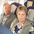 Im Flugzeug nach Houston