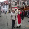 Erfurter Weihnachtsmarkt (Margrid & der Weihnachtsmann)