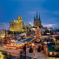 Blick auf den Erfurter Weihnachtsmarkt 2008