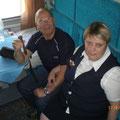 Unsere nette Schaffnerin (Brovodniza), die uns 7 Tage in der Transsib begleitete
