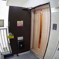 ここが入口です。引き戸が閉まっているときは、インターフォンを押してくださいね