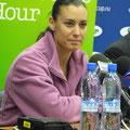 Флавия Пенетта на пресс-конференции