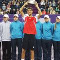 Первый титул Мартина Клижана и первый кубок, поднятый над головой, в турнире ATP!