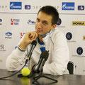 Пресс-конференция Сергея Стаховского, после главного триллера 1 круга - матча с Михаилом Южным