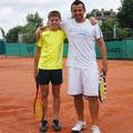 Наш Саша и сербский тренер - Нандор Фараго