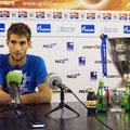 Победитель на последней пресс-конференции турнира