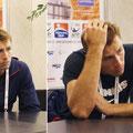 Две стадии задумчивости Лукаша Кубота. Настоящий профессионал на интервью серьёзен и сосредоточен.