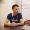 Сергей Стаховский на интервью после победы в матче 1 круга.