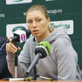 Вера Звонарёва на пресс-конференции