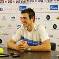 Сергей Бубка на пресс-концеренции, доволен проведённым матчем и с оптимизмом смотрит в будущее.