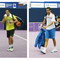 Сергей Бубка и Марин Чилич покидают корт после красивого совместного матча 1 круга.