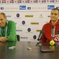 Пресс-конференция Михаила Южного и Бориса Львовича Собкина, после матча со Стаховским