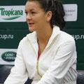 Агнешка Радваньска на пресс-конференции