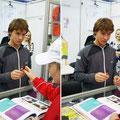 Изумительное зрелище - Ричардис Беранкис очень просит девочку пока не забирать маркер, уж очень он ему понравился :)