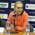 Елена Веснина на пресс-конференции